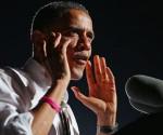 Obama, en medio de un mitin en Cleveland, Ohio. Foto: AFP.