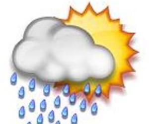 Se mantienen altas temperaturas con aislados chubascos en la tarde