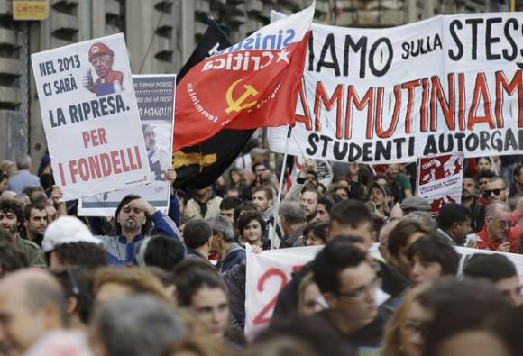 Protestas en Italia este 27 de octubre