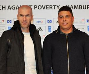 Zinedine Zidane y Ronaldo Luís Nazário de Lima