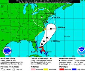 Atenta Naciones Unidas ante amenaza de Sandy sobre Nueva York