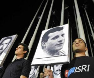 Vigilia víctimas cubanas del terrorimo.