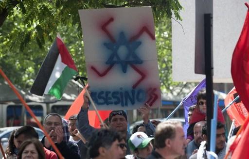 Manifestaciones de apoyo a Palestina. Chile. Foto: AFP