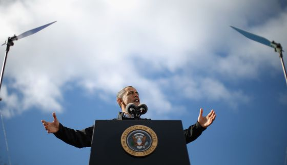 Barack Obama en New Hampshire. Foto: AFP