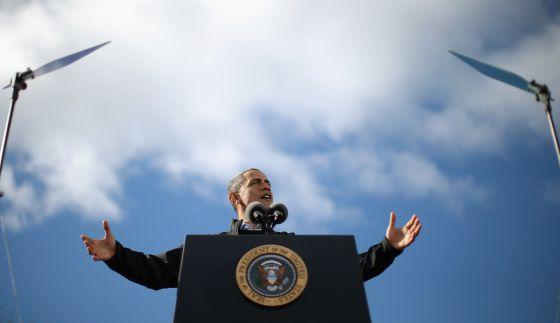 Barack Obama en New Hampshire. Foto: AFP