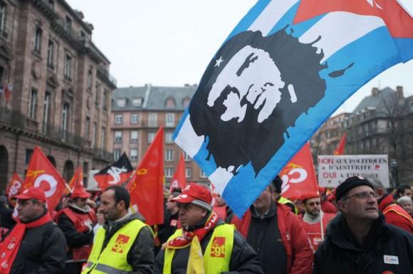 Manifestación en Marsella (Francia). Foto: AFP.