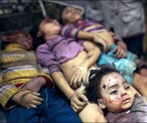 Los ataques aéreos israelíes están golpeando indiscriminadamente a los niños de Gaza. Foto: Reuters.
