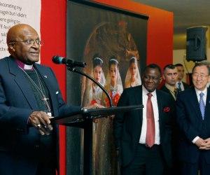 Tutu habla en la presentación de una exposición fotgráfica en New York en el primer Día Internacional de la Niña. Foto: Naciones Unidas.