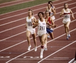 Alberto Juantorena al ganar los 800 metros en los Juegos Olímpicos de Montreal 76. Allí ganó también los 400 metros.