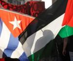 Banderas de Cuba y Palestina