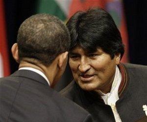Evo Morales y Barack Obama