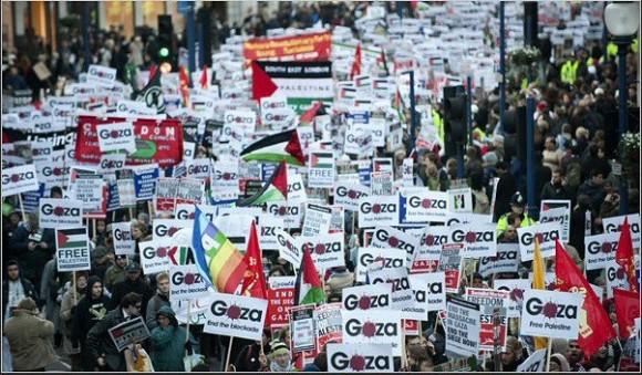 Manifestaciones de apoyo a Palestina. Londres.