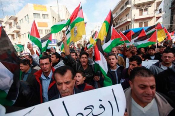 Foto tomada en Ramala, Cisjordania.