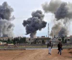 Bombardeo en Ras al Ain