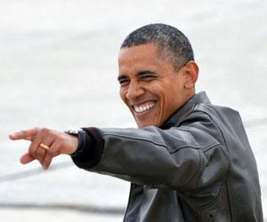 Obama, durante un mitin en Wisconsin. Foto: Jewel Samad/AFP.