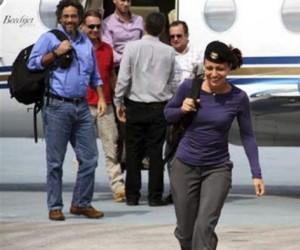 La guerrillera de las FARC, Tanja Nijmeijer llegando a La Habana. Foto: Anncol