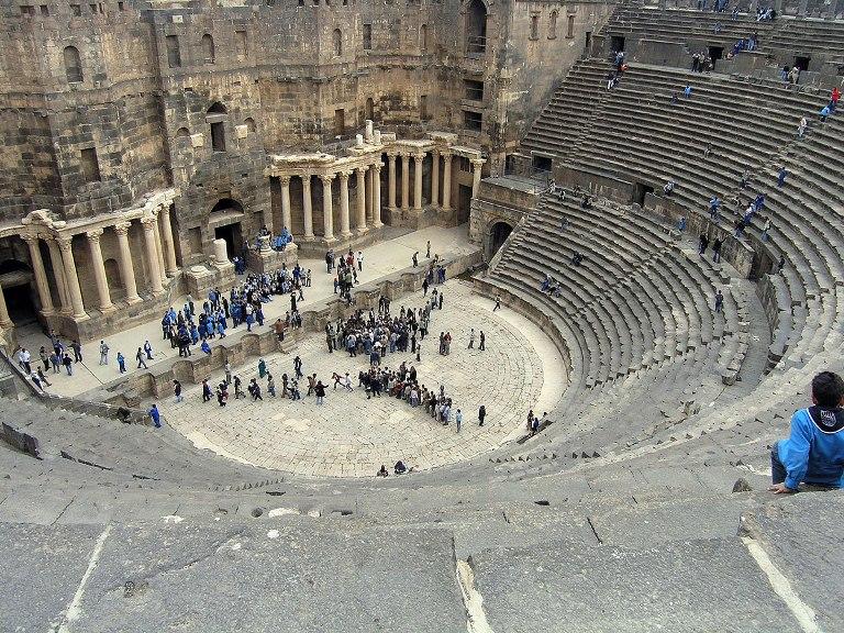 El Teatro arqueológico de Bosra. FOTO: SANA