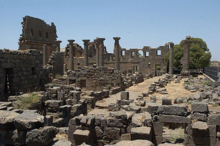 Las ruinas de Kanawat en el Swaida. FOTO: SANA