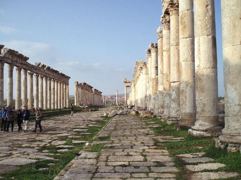 Las ruinas de Apamea. FOTO: SANA