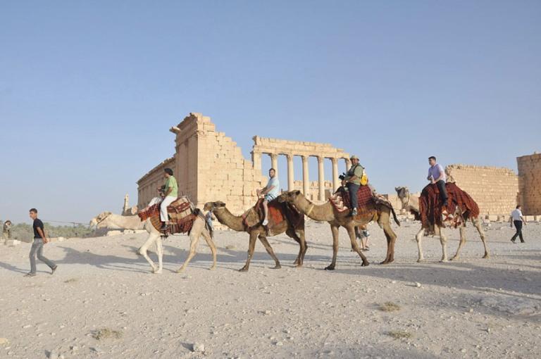 La antigua ciudad de Palmira. FOTO: SANA