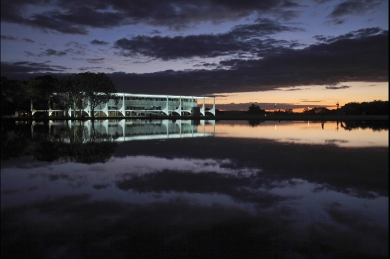 El Palacio de Planalto.Foto:AP