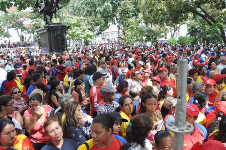 Venezolanos muestran su apoyo a Chávez. FOTO: News Flash JC