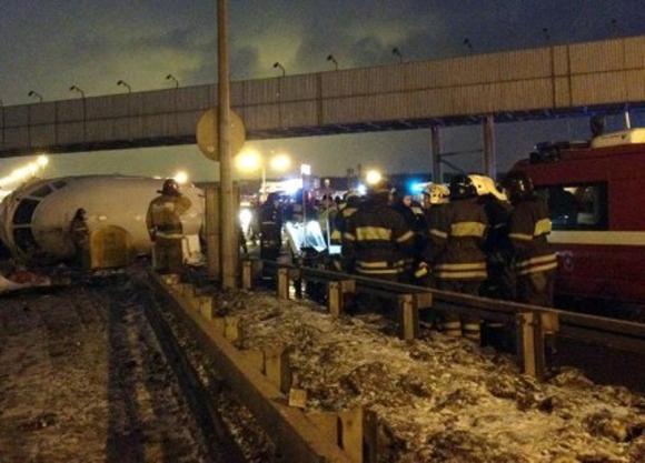 La Policía acordonó la zona después del accidente.