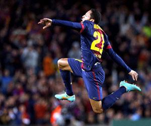 Adriano hizo un gol de premio. Foto: Alberto Estévez/EFE.