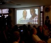 Encuentro de artistas e itelectuales cubanos, por la Libertad de los Cinco. Foto: Ismael Francisco/Cubadebate.