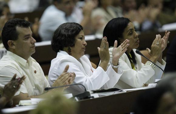 Clausura de la sesión ordinaria de la Asamblea Nacional. Foto: Ismael Francisco/Cubadebate.