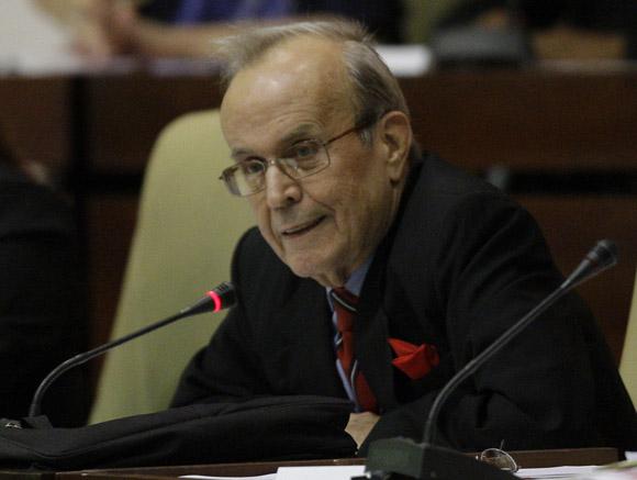 Ricardo Alarcon en Clausura de la sesión ordinaria de la Asamblea Nacional. Foto: Ismael Francisco/Cubadebate.