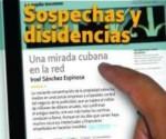 """Cubierta de Libro """"Sospechas y disidencias"""" del periodista cubano Iroel Sánchez"""
