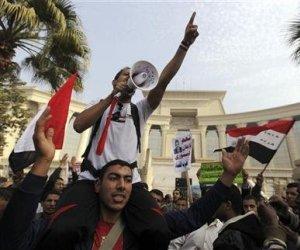 Llegan manifestantes egipcios a Palacio Presidencial