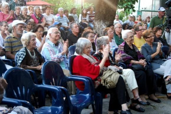 El público del Jardín de la Gorda. Foto: Víctor Casaus