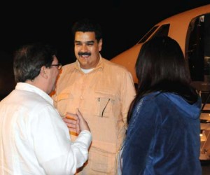 Nicolás Maduro llegó esta madrugada a La Habana.
