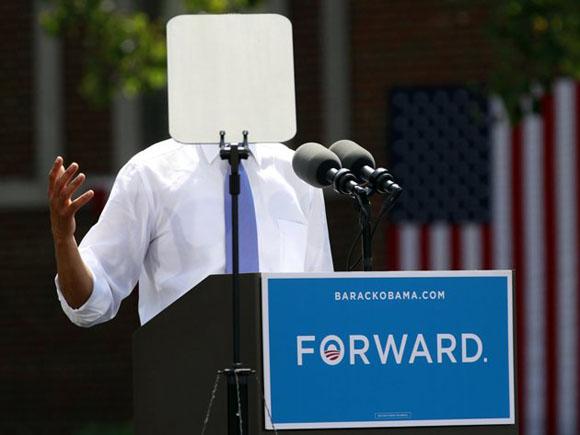 Obama, ¿por qué te escondes? Foto: REUTERS/Kevin Lamarque.