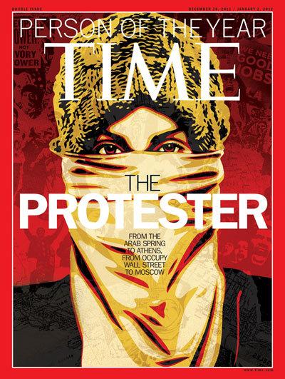 El manifestante