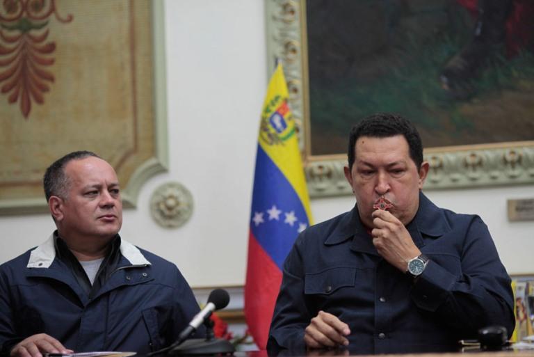 Alocución del presidente venezolano, Hugo Chávez, este sábado en la noche. FOTO: Prensa Miraflores