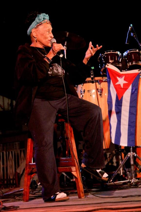 """""""Una voz que es Cuba"""". Foto: Alejandro Ramírez Anderson."""