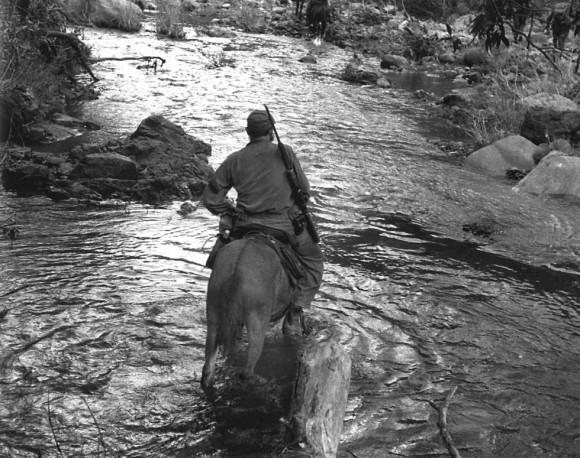 Fidel en la Sierra Maestra. Foto: Enrique Meneses.