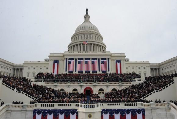 Vista general de El Capitolio durante la toma de posesión de Obama. Foto: AFP.