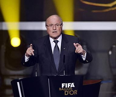Joseph Blatter durante su intervención