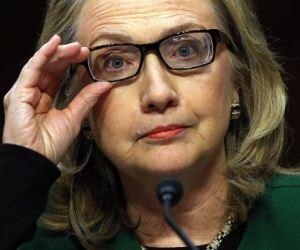 Hillary Clinton durante su comparecencia este miércoles.
