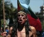 Mapuches protestan en Chile ante la Ley.