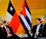 Raúl Castro con Danilo Medina y Enrique Peña Nieto