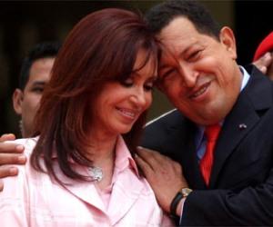 Cristina Fernández y Hugo Chávez, marzo de 2011.