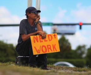 Un desempleado en Miami. Foto: AFP / Joe Raedle / Getty images North America
