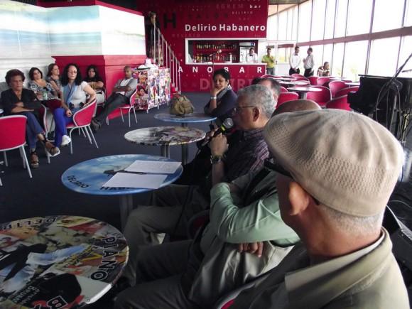 """La presentación del disco y el libro """"La Habana tiene su Son"""" tuvo lugar en el Delirio Habanero. Foto: Marianela Dufflar."""