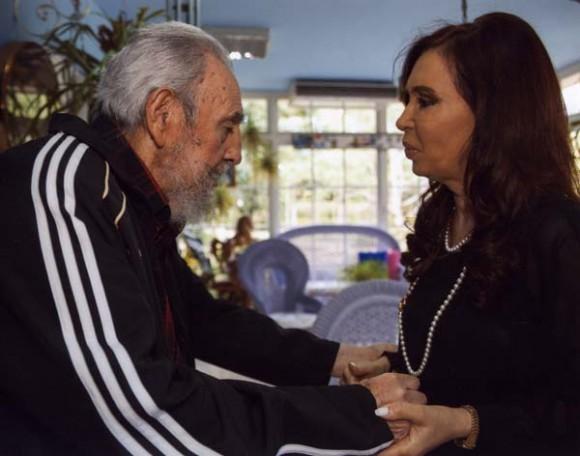 Fidel y Cristina.