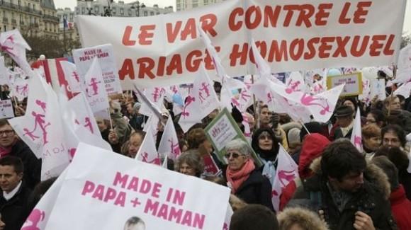 Marcha contra bodas gay.